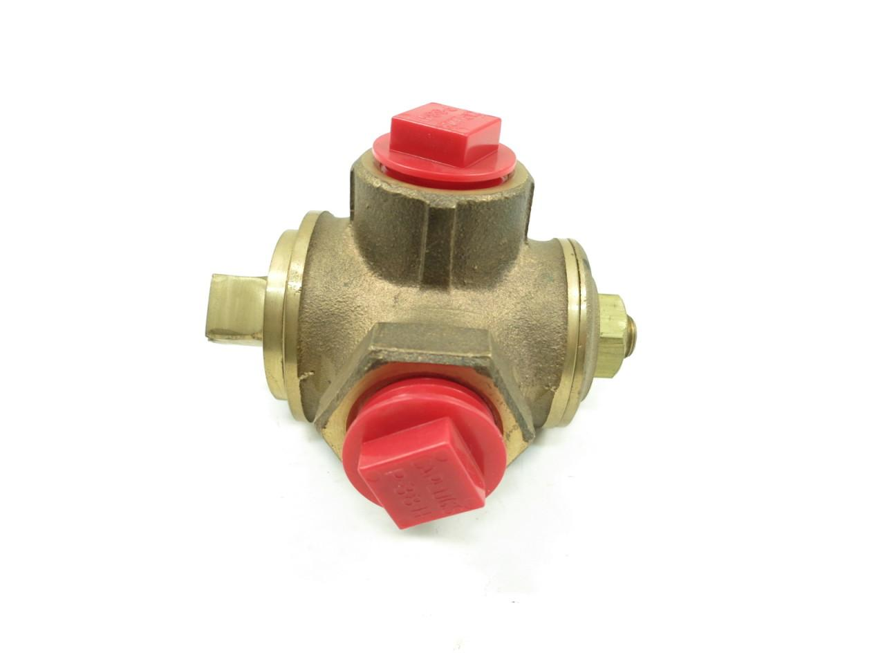 3 Way Bronze Plug Cock