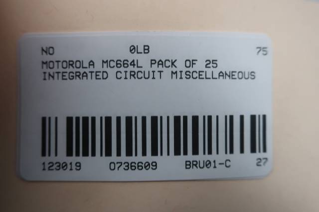 PACK OF 25 MOTOROLA MC664L INTEGRATED CIRCUIT