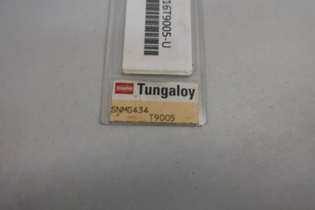 PACK OF 10 TUNGALOY SNMG120416 T9005 CARBIDE INSERTS