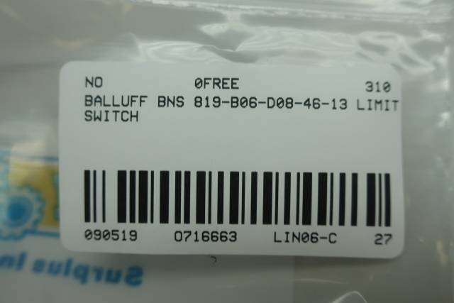 BALLUFF BNS 819-B06-D08-46-13 MECHANICAL POSITION SWITCH