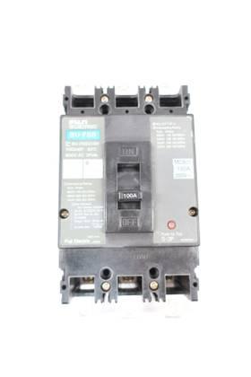 FUJI BU-FSB3100 3P 100A AMP 600V-AC MOLDED CASE CIRCUIT BREAKER