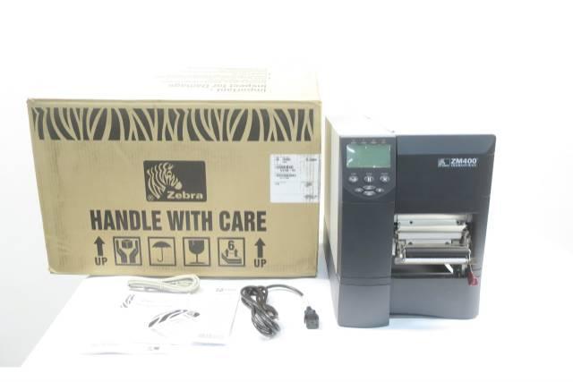 ZEBRA ZM400 123100-151 DIRECT/TRANSFER THERMAL LABEL PRINTER D591283