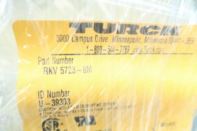 TURCK RKV 5723-8M CORDSET 300V 8M