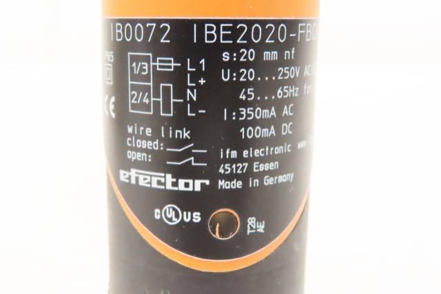 IFM EFECTOR IB0072 IBE2020-FBOA INDUCTIVE PROXIMITY SENSOR R717245