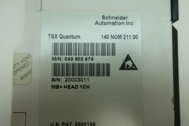 SCHNEIDER 140-NOM-211-00 TSX QUANTUM MB+HEAD 1CH