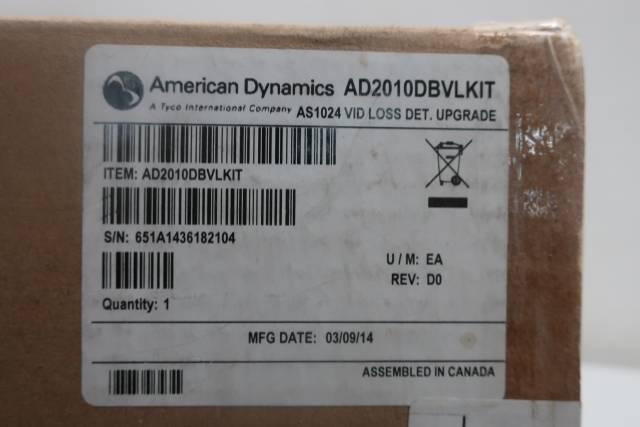 AMERICAN DYNAMICS AD2010DBVLKIT MATRIX VIDEO LOSS DETECTOR MODULE REV D0