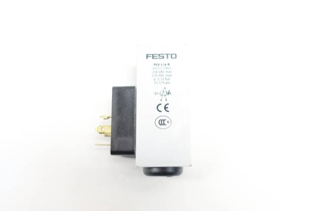 FESTO PEV-1/4-B 10773 PRESSURE SWITCH 15-175PSI 250V-AC