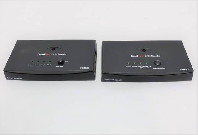 BELKIN F1D084 OMNIVIEW CAT5 KVM EXTENDER REMOTE AND LOCAL CONSOLE