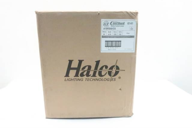 BOX OF 120 HALCO A19RS60/CS COVER SHIELD SAFETY COATED BULB 60W 130V-AC