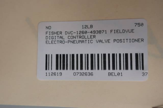 FISHER DVC6005 DVC-1260-493871 FIELDVUE PNEUMATIC VALVE POSITIONER
