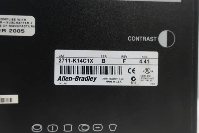 ALLEN BRADLEY 2711-K14C1X PANELVIEW 1400 OPERATOR INTERFACE PANEL SER B