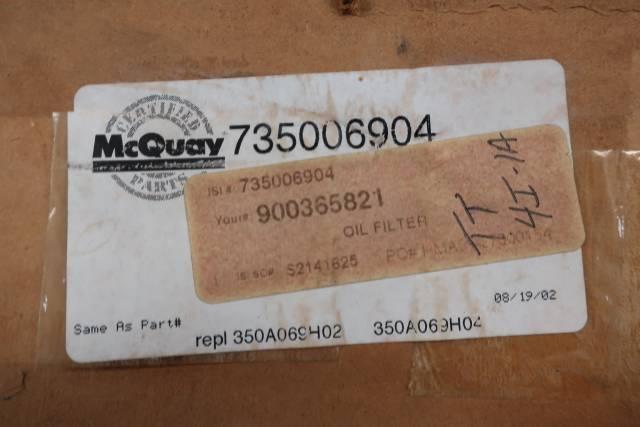 MCQUAY 735006904 HYDRAULIC FILTER ELEMENT