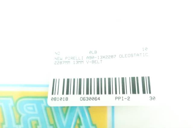 PIRELLI A90-13X2287 OLEOSTATIC 2287MM 13MM V-BELT D630064