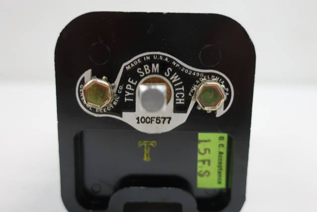 GENERAL ELECTRIC GE 10CF577 CONTROL SWITCH TYPE SBM
