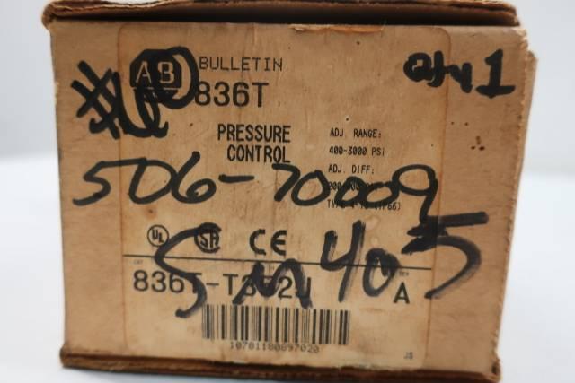 ALLEN BRADLEY 836T-T352J PRESSURE SWITCH SER A 400-3000PSI