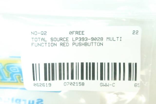 TOTAL SOURCE LP393-9028 MULTI FUNCTION RED PUSHBUTTON