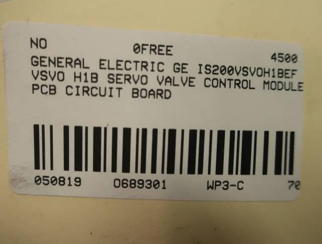 GE IS200VSVOH1BEF MARK VI VSVO H1B SERVO VALVE VME CONTROL MODULE