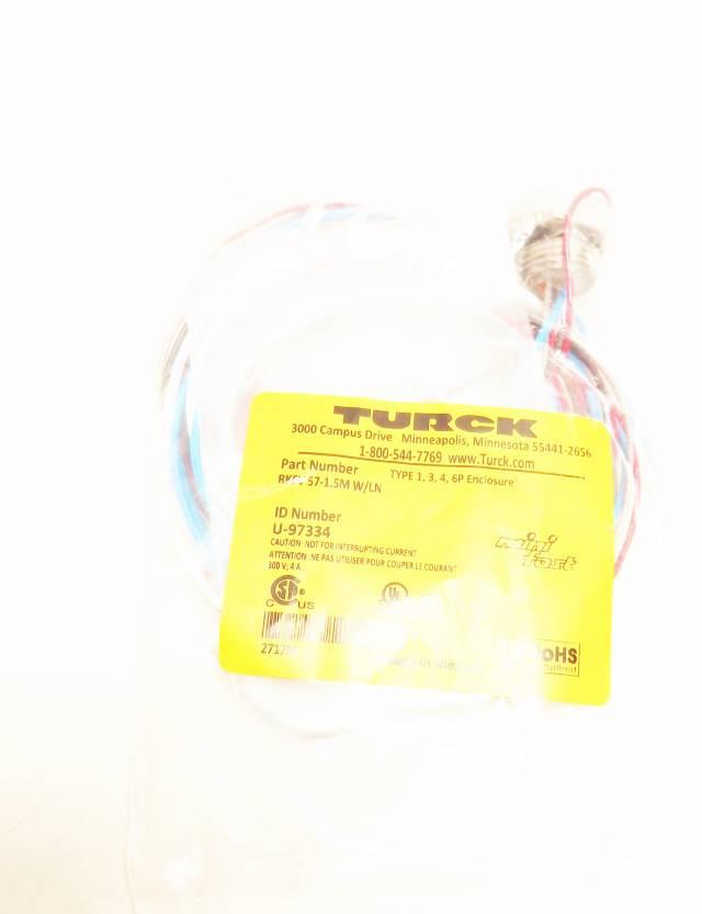 TURCK RKFV 57-1.5M W/LN MINIFAST CONNECTOR CABLE 1.5M