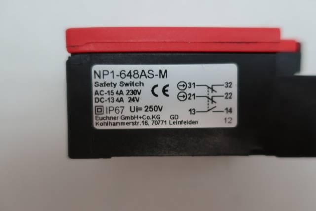 EUCHNER NP1-648AS-M SAFETY SWITCH 24V-DC