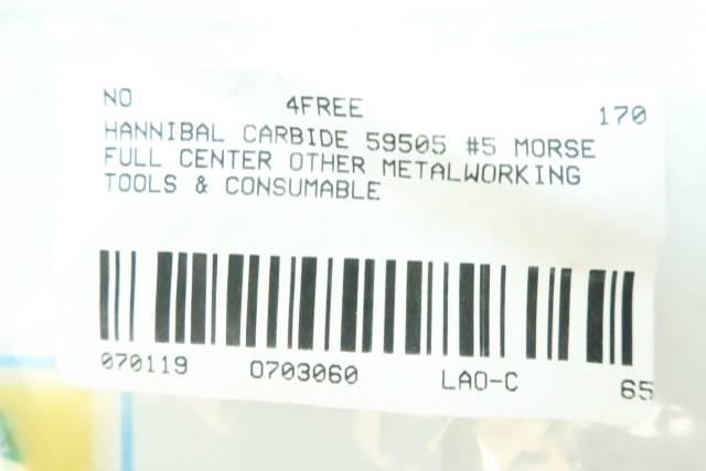 HANNIBAL CARBIDE 59505 #5 MORSE FULL CENTER
