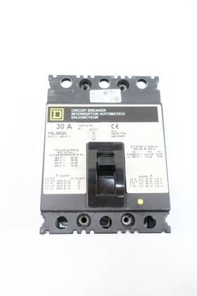 SQUARE D FAL36030 3P 30A AMP 600V-AC MOLDED CASE CIRCUIT BREAKER