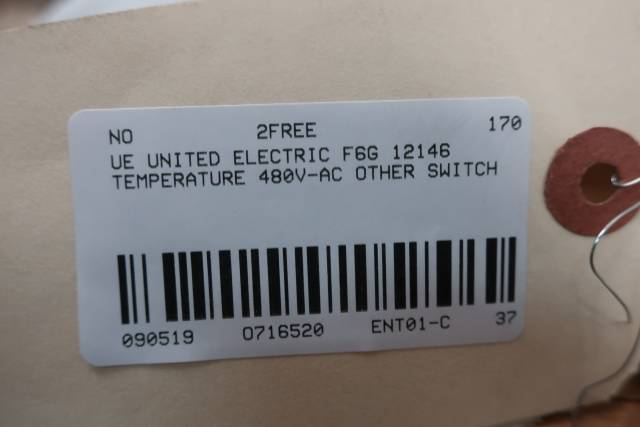UE UNITED ELECTRIC F6G 12146 TEMPERATURE SWITCH 480V-AC