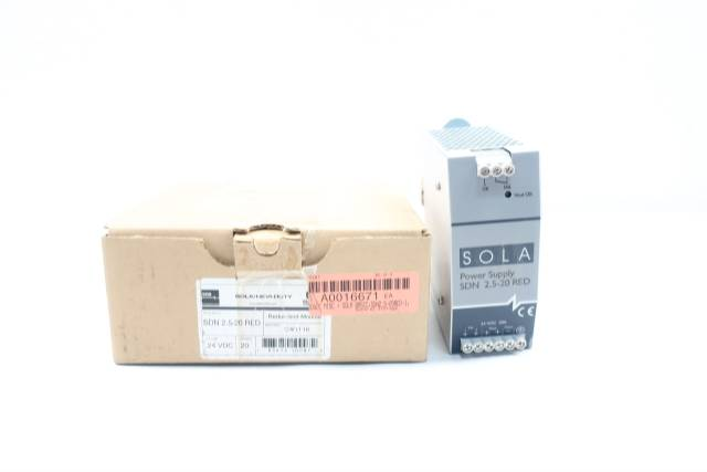 EGS SDN 2.5-20 RED SOLA/HEVI-DUTY POWER SUPPLY 24V-DC 20A AMP
