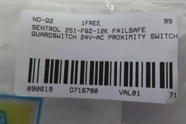 INTERLOGIX 251-F6Z-12K SENTROL GUARDSWITCH INTERLOCK PROXIMITY SWITCH R716780