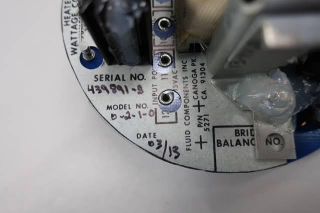 FLUID COMPONENTS 706182-0-2-1-0 HEATER WATTAGE CONTROL BOARD