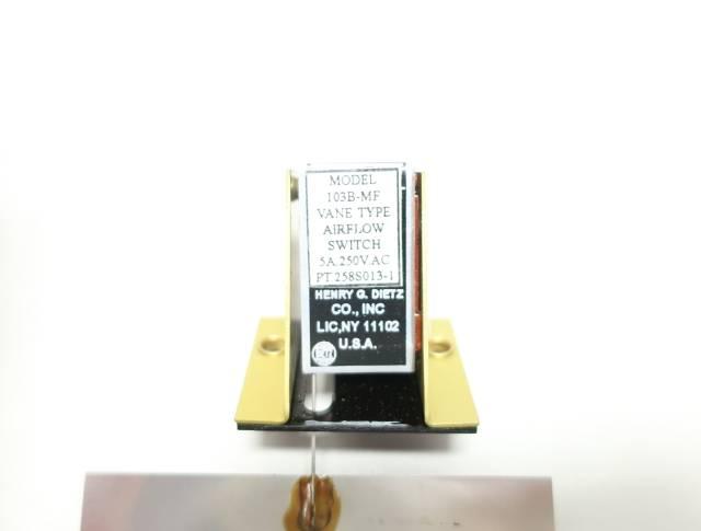 DIETZ 103B-MF VANE TYPE 250V-AC FLOW SWITCH