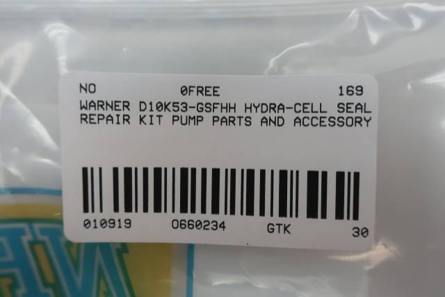 WANNER D10K53-GSFHH HYDRA-CELL PUMP SEAL REPAIR KIT D660234