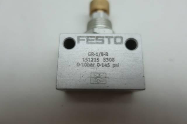 FESTO GR-1/8-B FLOW CONTROL VALVE 0-145PSI 1/8IN NPT D660066