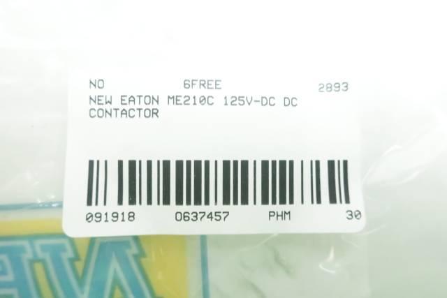 EATON ME210C DC CONTACTOR 125V-DC D637457