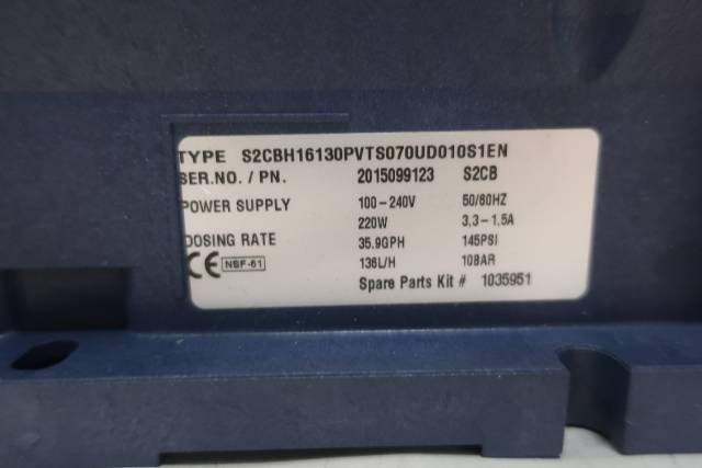 PROMINENT S2CBH16130PVTS070UD010S1EN METERING PUMP 35.9GPH 145PSI D659228
