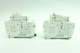 LOT OF 2 ALLEN BRADLEY 1492-SP1C040 CIRCUIT BREAKER 1P 4A 240/415V-AC SER C MISCELLANEOUS