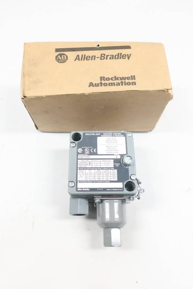 ALLEN BRADLEY 836T-T252J PRESSURE SWITCH SER A 6-75PSI