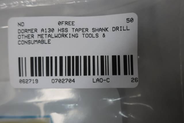 DORMER A130 HSS TAPER SHANK DRILL BIT 18MM
