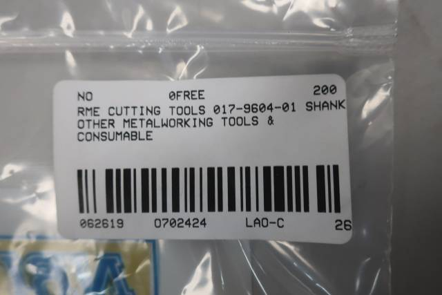 RME CUTTING TOOLS 017-9604-01 STRAIGHT 6 FLUTE 1/2IN REAMER