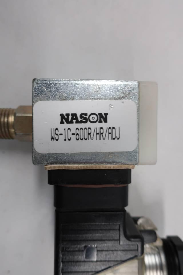 NASON WS-1C-600R/HR/ADJ PRESSURE SWITCH 16-36V-AC