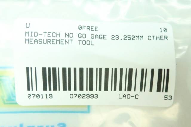 MID-TECH NO GO CALIBRATION RING 23.252MM