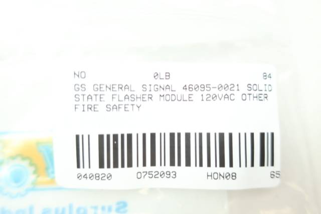GS GENERAL SIGNAL 46095-0021 SOLID STATE FLASHER MODULE 120VAC