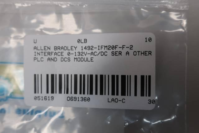 ALLEN BRADLEY 1492-IFM20F-F-2 INTERFACE MODULE 0-132V-AC/DC SER A