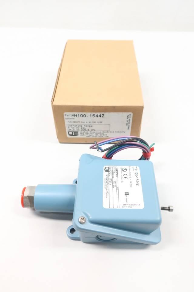 UE UNITED ELECTRIC H100-15442 PRESSURE SWITCH 1/2IN 5-30PSI 480V-AC