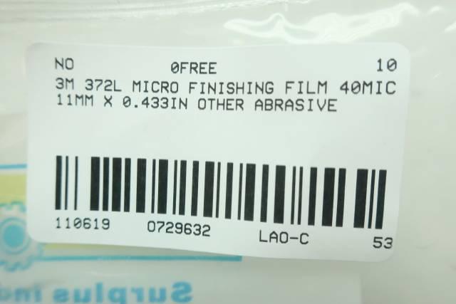 3M 372L MICRO FINISHING FILM 40MIC 11MM-0.433IN