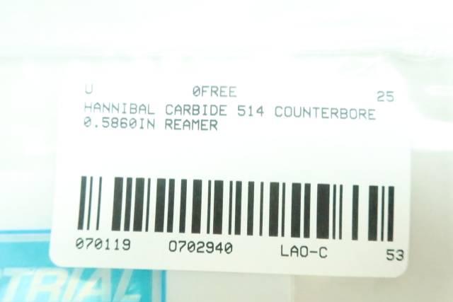 HANNIBAL CARBIDE 514 COUNTERBORE 0.5860IN