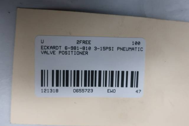 ECKARDT 6-981-810 PNEUMATIC VALVE POSITIONER 3-15PSI D655723