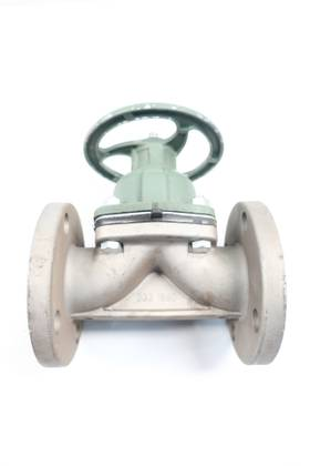 ITT 303-1880 GRINNELL MANUAL STAINLESS FLANGED 2IN DIAPHRAGM VALVE