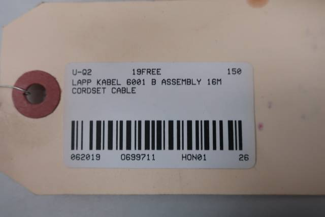 LAPP KABEL 6001 WIRING HARNESS ASSEMBLY 16M