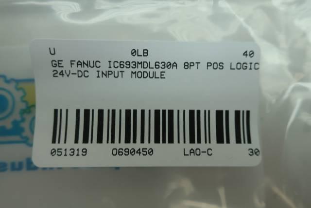 GE FANUC IC693MDL630A INPUT MODULE 8PT POS LOGIC 24V-DC