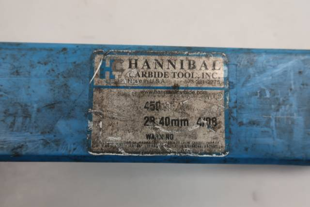 HANNIBAL CARBIDE 450 STRAIGHT 8 FLUTE 28.4MM REAMER